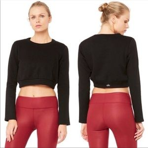 NWT Alo Yoga Elite Cropped Sweatshirt